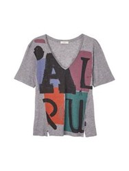 Paul By Paul Smith Crew Neck Paul Logo T Shirt Grey
