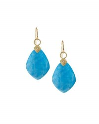 Jude Frances 18K Turquoise And Moonstone Doublet Drop Earrings