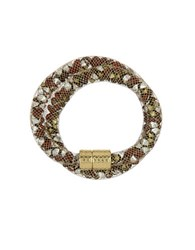 Laundry By Shelli Segal Hollywood And Vine Crystal Mesh Wrap Bracelet Red