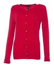 Lands' End Long Sleeve Supima Fine Gauge Cardigan True Red