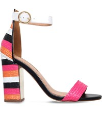 Miss Kg Ebony Panelled Raffia Sandals Mult Other