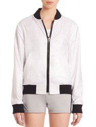 Rebecca Minkoff Long Sleeve Zip Front Jacket White