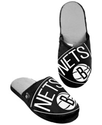Forever Collectibles Men's Brooklyn Nets Big Logo Slippers