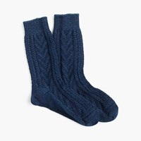 J.Crew Anonymous Ismtm Indigo Cable Knit Crew Socks