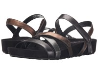 Walking Cradles Pool Metallic Multi Black Suede Wrap Women's Sandals Brown