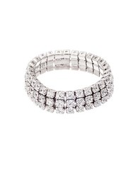 Lord And Taylor Three Row Cubic Zirconia Eternity Ring Silver