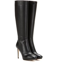 Jimmy Choo Hoxton 100 Knee High Leather Boots Black