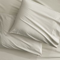 Cb2 Set Of 2 Organic Oat Percale King Pillowcases