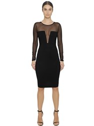 Christies Microfiber Shapewear And Tulle Dress
