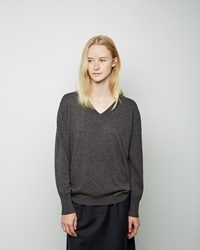 La Garconne Moderne Mariel Cashmere V Neck Grey Heather