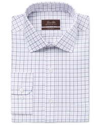 Tasso Elba Men's Classic Fit Tattersall Dress Shirt Only At Macy's Purple