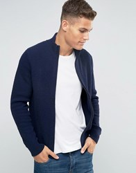 Tommy Hilfiger Zip Up Cardigan In Navy 08878A1713