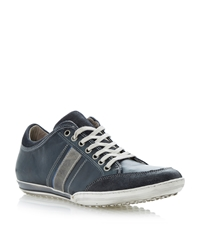 Dune Tipple Colour Side Panel Lace Up Trainers Navy