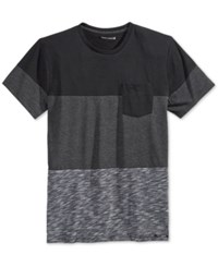 Ocean Current Men's Davinci Pieced Colorblocked Pocket T Shirt Black