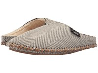 Woolrich Wool Mill Scuff Herringbone Wool Women's Slippers Brown