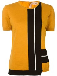 N 21 No21 Knitted T Shirt Yellow Orange