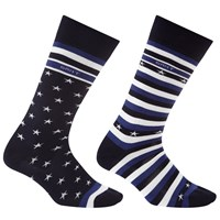 Gant Stripes And Star Sock Box Pack Of 2 One Size