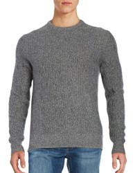 Black Brown Cable Knit Cashmere Sweater Soot Heather