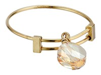 Alex And Ani Golden Shadow Swarovski Crystal Expandable Ring Gold Ring