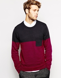 Another Influence Jumper Cut And Sew Navy