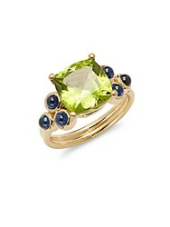 Temple St. Clair Peridot Sapphire And 18K Gold Ring