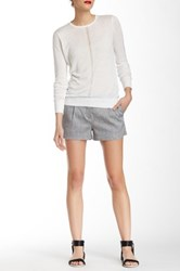 L.A.M.B. Sharkskin Skinny Linen Blend Short Gray