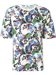 Msgm Abstract Print T Shirt Multicolour