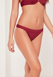 Missguided Low Rise Hipster Bikini Bottoms Burgundy Mix And Match