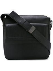 Salvatore Ferragamo Flap Messenger Bag Black