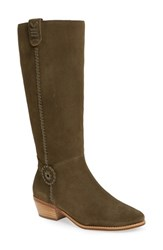 Jack Rogers Women's Sawyer Tall Riding Boot Olive Suede