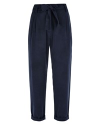 Jaeger Slouchy Trousers Navy