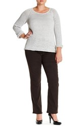 Nydj Barbara Bootcut Jean Plus Size Brown