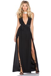 Olcay Gulsen Su2c X Revolve Double Slit Maxi Dress Black