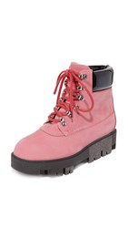 Acne Studios Telde Hiking Booties Pink
