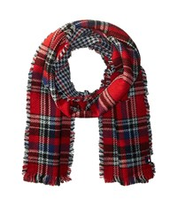 Tommy Hilfiger Reversible Houndstooth Tartan Red Caps