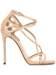 Dolce And Gabbana Strappy Sandals Nude And Neutrals