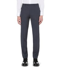 Sandro Regular Fit Wool Trousers Grey