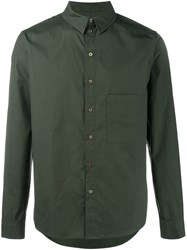 By Walid Chest Pocket Shirt Green