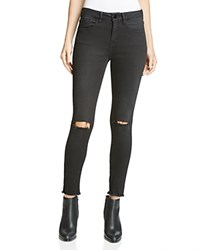 Aqua X Maddie And Tae Distressed Skinny Ankle Jeans In Black 100 Bloomingdale's Exclusive