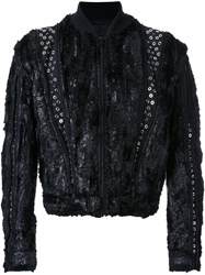 Maison Martin Margiela Textured Cropped Jacket Black