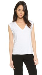 Feel The Piece Kast V Neck Tee White