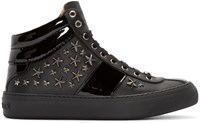 Jimmy Choo Black Belgravi High Top Sneakers