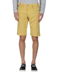 Chiribiri Trousers Bermuda Shorts Men Yellow