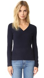 Tse Cashmere V Neck Sweater Ink Blue