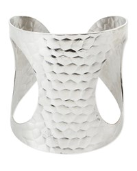 Hammered Open Side Cuff Devon Leigh Silver