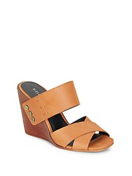 Kelsi Dagger Morten Leather Wedge Sandals Cognac