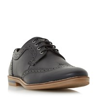 Howick Beets Casual Lace Up Brogue Shoes Black