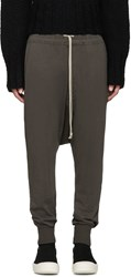 Rick Owens Grey Prisoner Lounge Pants