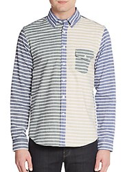 Creep By Hiroshi Awai Regular Fit Nautical Striped Sportshirt Multi
