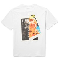 Neil Barrett Printed Cotton Jersey T Shirt White